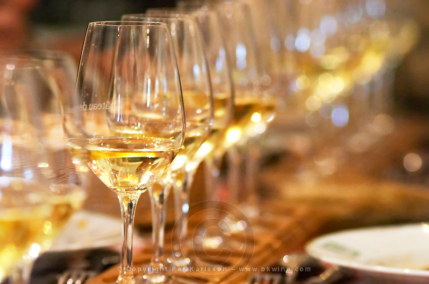 wine tasting in a restaurant hotel chateau de gilly vougeot cote de nuits burgundy france