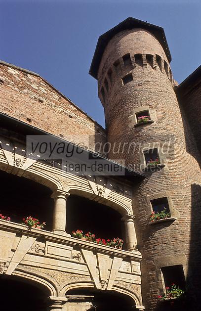 Europe/France/Midi-Pyrénées/81/Tarn/Albi:  Cour d'honneur de l'Hôtel Reynes