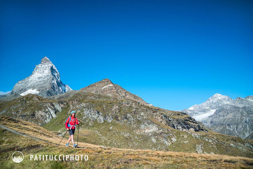 Hiking beneath the Matterhorn, Switzerland