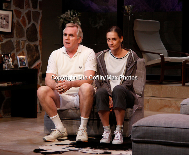 "Malachy Cleary & Brenda Withers star in ""Other Desert Cities"" at the tech rehearsal (in costume) on October 14, 2015 at Whippoorwill Halll Theatre, North Castle Library, Kent Place, Armonk, New York.  (Photo by Sue Coflin/Max Photos)"