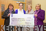 The Knockeen's Christmas Day swim raised €6500 which was presented to the Cahersiveen Community Hospice Care Unit on Monday pictured here l-r; Ann Kennedy, Noirin Donnelly(Matron St Anne's Hospital Cahersiveen), Marie O'Driscoll & Marion O'Shea.