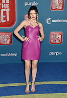 HOLLYWOOD, CA - NOVEMBER 05: Nikki Hahn attends the Premiere Of Disney's 'Ralph Breaks The Internet' at the El Capitan Theatre on November 5, 2018 in Los Angeles, California.<br /> CAP/ROT/TM<br /> &copy;TM/ROT/Capital Pictures
