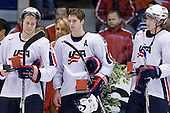 Colin Wilson (USA - 33), Chris Summers (USA - 16), James van Riemsdyk (USA - 12) - Team Russia defeated Team USA 4-2 on Saturday, January 5, 2008, at CEZ Arena in Pardubice, Czech Republic, to win the bronze at the 2008 World Juniors Championship.