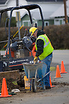 digging, trenching and filling to move a fire hydrant