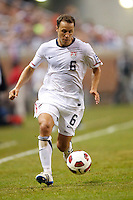 7 June 2011: USA Men's National Team defender Steve Cherundolo (6) dribbles the ball in the first half during the CONCACAFsoccer match between USA MNT and Canada MNT at Ford Field Detroit, Michigan.