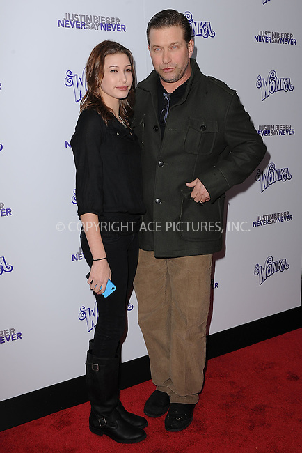 WWW.ACEPIXS.COM . . . . . .February 2, 2011...New York City....Hailey Baldwin and Stephen Baldwin attend the New York premiere of 'Justin Bieber Never Say Never'  on February 2, 2011 in New York City....Please byline: KRISTIN CALLAHAN - ACEPIXS.COM.. . . . . . ..Ace Pictures, Inc: ..tel: (212) 243 8787 or (646) 769 0430..e-mail: info@acepixs.com..web: http://www.acepixs.com .