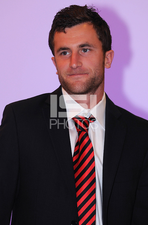 DC United midfielder Stephen KIng, at the 2011 Season Kick off Luncheon, at the Marriott Hotel in Washington DC, Wednesday March 16 2011.