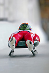 7 February 2009: Inars Kivlenieks slides for Latvia in the Men's Competition at the 41st FIL Luge World Championships, in Lake Placid, New York, USA. .  .Mandatory Photo Credit: Ed Wolfstein Photo