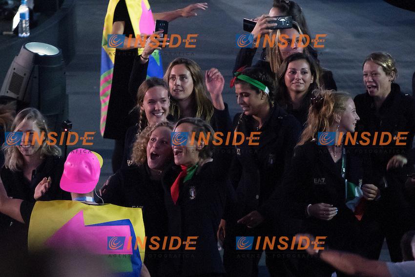 Federica Pellegrini Italy Team<br /> Rio de Janeiro 06-08-2016 XXXI Olympic Games <br /> Maracana' Stadium <br /> Opening Ceremony 05/08/2016<br /> Photo Giorgio Scala/Deepbluemedia/Insidefoto