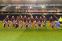Chicago, IL - Saturday Sept. 24, 2016: Washington Spirit Starting XI, player escorts prior to a regular season National Women's Soccer League (NWSL) match between the Chicago Red Stars and the Washington Spirit at Toyota Park.