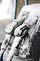 29/04/16 <br /> <br /> Petrol pumps covered in snow and ice in Newhaven after snowfall hits the Derbyshire Peak District.<br /> <br /> All Rights Reserved: F Stop Press Ltd. +44(0)1335 418365   +44 (0)7765 242650 www.fstoppress.com