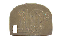 Stratford Market token (reverse) for G. W. Boultwood to issue deposit for return of produce crates and containers