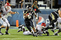 11 September 2010:  FIU running back Jeremiah Harden (6) breaks into the secondary in the second quarter as the Rutgers Scarlet Knights defeated the FIU Golden Panthers, 19-14, at FIU Stadium in Miami, Florida.