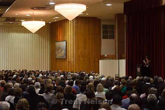 Author Isabel Allende spoke to a packed house in the ballroom of the University of Utah's Olpin Student Union Building Wednesday, December 2 2009 in Salt Lake City.