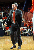 Virginia head coach Tony Bennett gets angry at a call during the game Tuesday, Jan. 12, 2016 in Charlottesville, Va. Virginia defeated Miami 66-58. Photo/Andrew Shurtleff