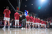 STANFORD, CA - February 22, 2019: Team at Maples Pavilion. The Stanford Cardinal defeated the Arizona Wildcats 56-54.