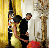United States President Barack Obama and First Lady Michelle Obama host the Diplomatic Corps Reception on Tuesday, October 5, 2010, in Washington, DC.  .Credit: Leslie E. Kossoff / Pool via CNP