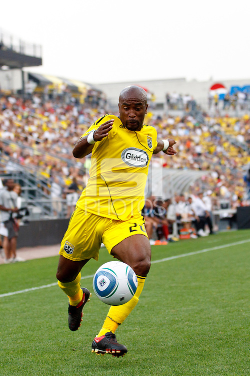 26 JUNE 2010:  Emilio Renteria of the Columbus Crew (20) during MLS soccer game between DC United vs Columbus Crew at Crew Stadium in Columbus, Ohio on May 29, 2010. The Crew defeated DC United 2-0.