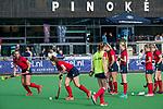 AMSTELVEEN  -  warming up Laren, hoofdklasse hockeywedstrijd dames Pinole-Laren (1-3). COPYRIGHT  KOEN SUYK