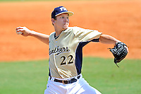 18 March 2012:  FIU pitcher John Costa (22) pitches in relief as the Florida Atlantic University Owls defeated the FIU Golden Panthers, 9-3, at University Park in Miami, Florida.