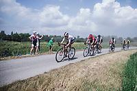 Martin Salmon (DEU/Sunweb) leading the early breakaway group. <br /> <br /> Dwars Door Het Hageland 2020<br /> One Day Race: Aarschot – Diest 180km (UCI 1.1)<br /> Bingoal Cycling Cup 2020