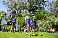 Michelle Wie (USA) and So Yeon Ryu (KOR) depart the first tee during Sunday's final round of the 2017 KPMG Women's PGA Championship, at Olympia Fields Country Club, Olympia Fields, Illinois. 7/2/2017.<br /> Picture: Golffile | Ken Murray<br /> <br /> <br /> All photo usage must carry mandatory copyright credit (&copy; Golffile | Ken Murray)