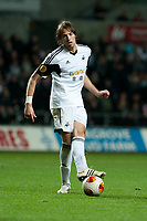 Thursday 24 October 2013  <br /> Pictured: Michu  of Swansea <br /> Re:UEFA Europa League, Swansea City FC vs Kuban Krasnodar,  at the Liberty Staduim Swansea
