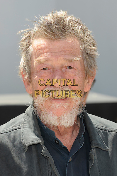John Hurt.'Only Lovers Left Alive' photocall at the 66th Cannes Film Festival, France 25th May 2013.headshot portrait black jacket beard facial hair    .CAP/PL.©Phil Loftus/Capital Pictures.