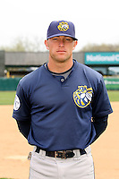 April 11 2010: Ryan Stovall of the Burlington Bees. The Bees are the Low A affiliate of the Kansas City Royals. Photo by: Chris Proctor/Four Seam Images