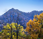The Mountain Peaks Called Chimney Tops In The Great Smoky Mountains National Park, Tennessee, USA