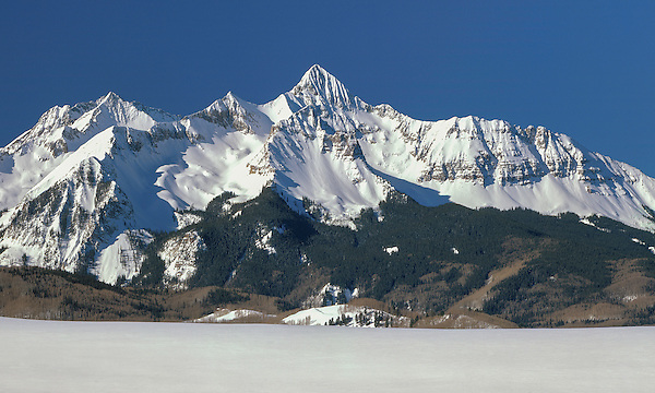 "Wilson Peak (14,017 feet), San Juan Mountains, Telluride. From John's 3rd book, ""Mastering Nature Photography"".<br />