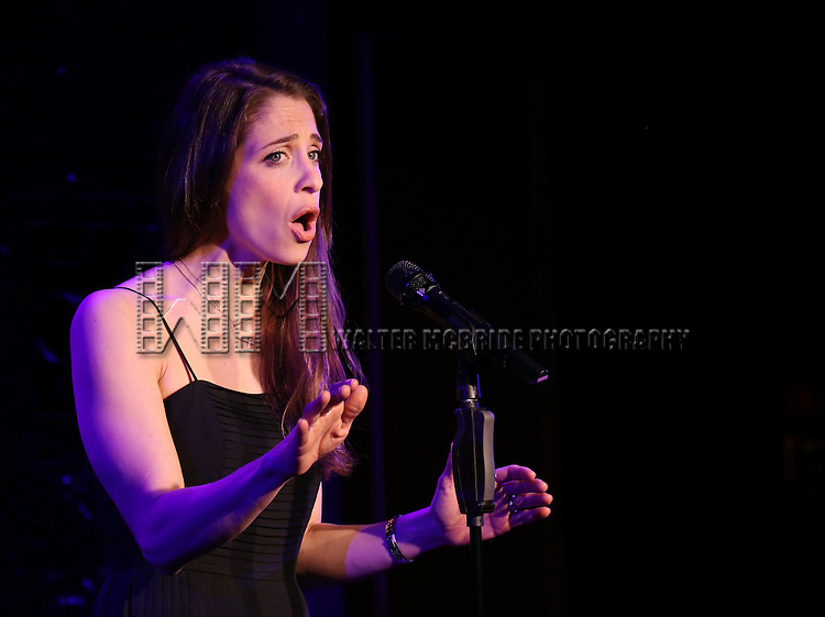 """Elena Shaddow performs A Special Press Preview of their upcoming show """"54 Below Swings Time and Again""""  at 54 Below on April 4, 2014 in New York City."""