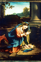 Renaissance Art:  Correggio (1494-1534)--Our Lady Worshipping the Child.  Galleria Uffizi.