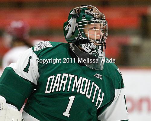Whitney Woodcox (Dartmouth - 1) - The visiting Dartmouth College Big Green defeated the Harvard University Crimson 3-2 on Wednesday, November 23, 2011, at Bright Hockey Center in Cambridge, Massachusetts.