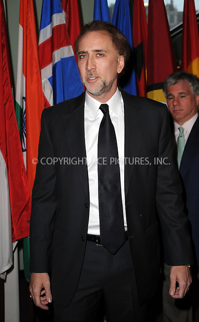 WWW.ACEPIXS.COM . . . . . ....May 12 2009, New York City....Actor Nicolas Cage at the 'Welcome to Gulu' exhibition opening event at the United Nations on May 12, 2009 in New York City.....Please byline: KRISTIN CALLAHAN - ACEPIXS.COM.. . . . . . ..Ace Pictures, Inc:  ..tel: (212) 243 8787 or (646) 769 0430..e-mail: info@acepixs.com..web: http://www.acepixs.com