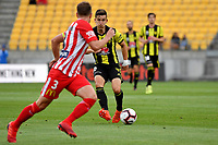 Wellington Phoenix&rsquo; Louis Fenton in action during the A League - Wellington Phoenix v Melbourne City FC at Westpac Stadium, Wellington, New Zealand on Saturday 26 January 2019. <br /> Photo by Masanori Udagawa. <br /> www.photowellington.photoshelter.com
