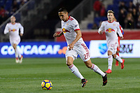 Harrison, NJ - Thursday March 01, 2018: Sean Davis. The New York Red Bulls defeated C.D. Olimpia 2-0 (3-1 on aggregate) during a 2018 CONCACAF Champions League Round of 16 match at Red Bull Arena.