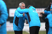 Bromley Manager, Neil Smith embraces Dagenham Manager, Peter Taylor, ahead of kick-off during Bromley vs Dagenham & Redbridge, Vanarama National League Football at the H2T Group Stadium on 24th November 2018