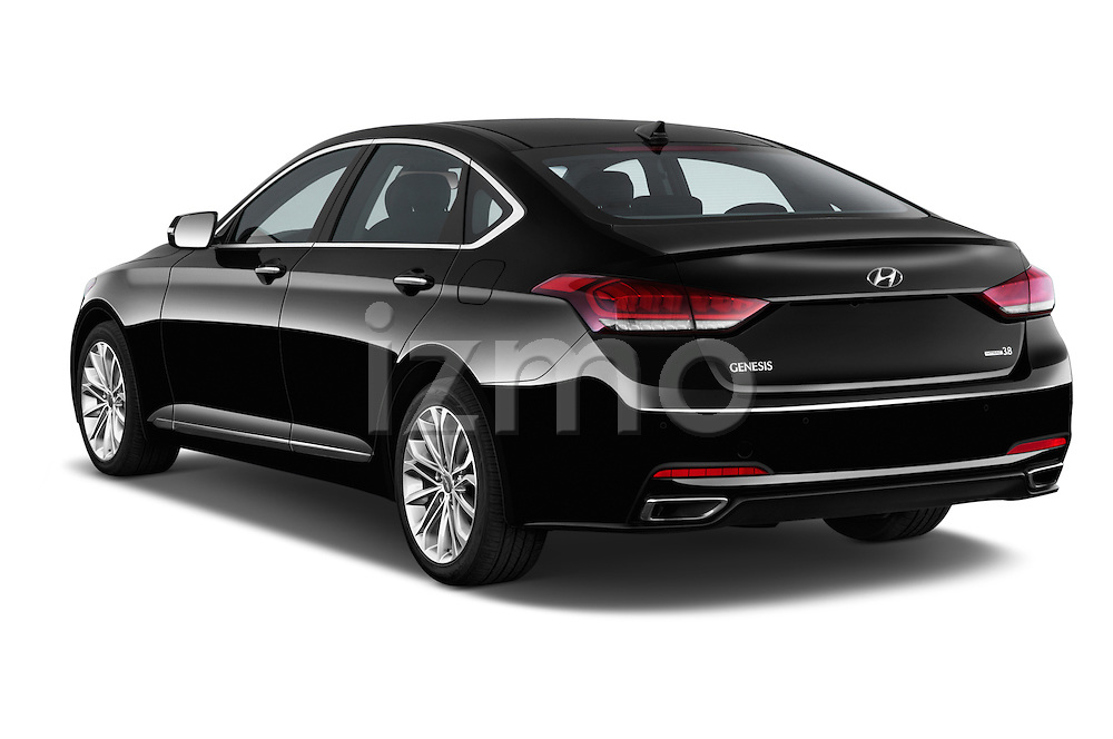 Car pictures of rear three quarter view of a 2015 Hyundai Genesis 3.8 4 Door Sedan Angular Rear