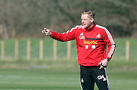 Pictured: Manager Garry Monk. Saturday 08 March 2014<br />