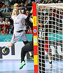 21.01.2013 Barcelona, Spain. IHF men's world championship, Eighth Final. Picture show Putics  in action during game Hungary vs Poland at Palau St Jordi