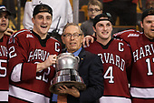 Clay Anderson (Harvard - 5), Devin Tringale (Harvard - 22), Steve Nazro, Alexander Kerfoot (Harvard - 14), Sean Malone (Harvard - 17) - The Harvard University Crimson defeated the Boston University Terriers 6-3 (EN) to win the 2017 Beanpot on Monday, February 13, 2017, at TD Garden in Boston, Massachusetts.