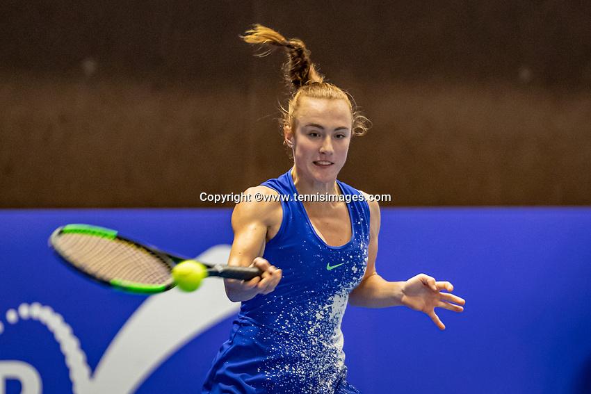 Alphen aan den Rijn, Netherlands, December 18, 2019, TV Nieuwe Sloot,  NK Tennis, Woman's singles: Chanel Janssen (NED)<br /> Photo: www.tennisimages.com/Henk Koster