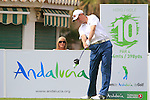 Simon Wakefield (ENG) in action on then 10th tee during Day 2 Friday of the Open de Andalucia de Golf at Parador Golf Club Malaga 25th March 2011. (Photo Eoin Clarke/Golffile 2011)