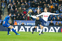 Christian Eriksen of Tottenham controls the ball during the Premier League match between Leicester City and Tottenham Hotspur at the King Power Stadium, Leicester, England on 28 November 2017. Photo by James Williamson / PRiME Media Images.