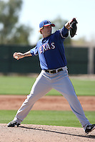 Ryan Tucker #55 of the Texas Rangers participates in spring training workouts at the Rangers complex on February 21, 2011  in Surprise, Arizona. .Photo by:  Bill Mitchell/Four Seam Images.