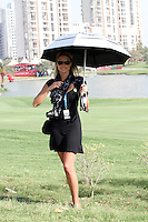 Thomas Aiken's Wife Kate on the 18th during Round 4 of the 2013 Avantha Masters, Jaypee Greens Golf Club, Greater Noida, Delhi, 17/3/13..(Photo Jenny Matthews/www.golffile.ie)