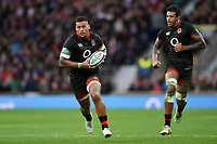 Nathan Hughes of England in possession. Old Mutual Wealth Series International match between England and Argentina on November 11, 2017 at Twickenham Stadium in London, England. Photo by: Patrick Khachfe / Onside Images