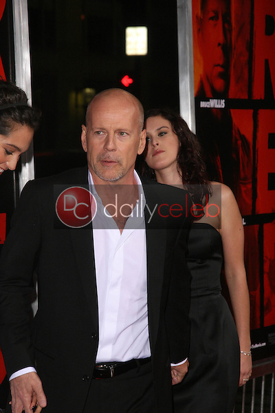 Bruce Willis and Rumer Willis<br />