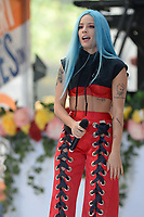 www.acepixs.com<br /> June 9, 2017 New York City<br /> <br /> Halsey performing on NBC's 'Today' at Rockefeller Plaza on June 9, 2017 in New York City. <br /> <br /> Credit: Kristin Callahan/ACE Pictures<br /> <br /> Tel: (646) 769 0430<br /> e-mail: info@acepixs.com